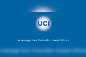 Banner Showing Message from Chancellor Howard Gillman