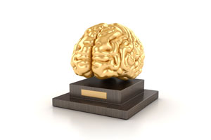 Gold Brain Award Statue